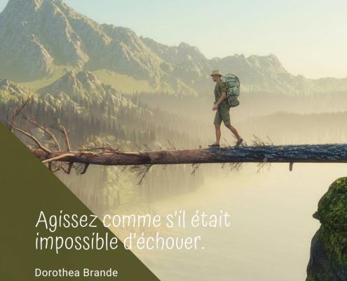 Agir comme si nous était impossible d'échouer